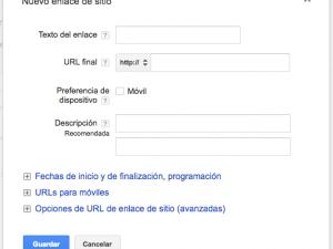 Extensión de Anuncios de enlaces de sitio
