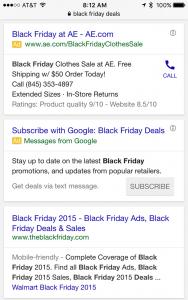 ejemplo extension de anuncios por sms en google adwords