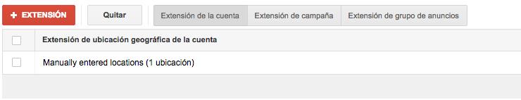 Extensión de Ubicación de Google Adwords